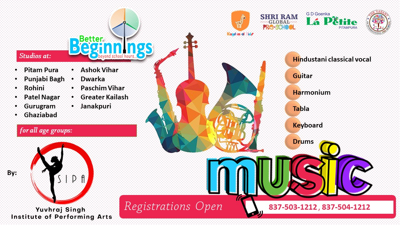 delhi / NCR best music class near you. YSIPA
