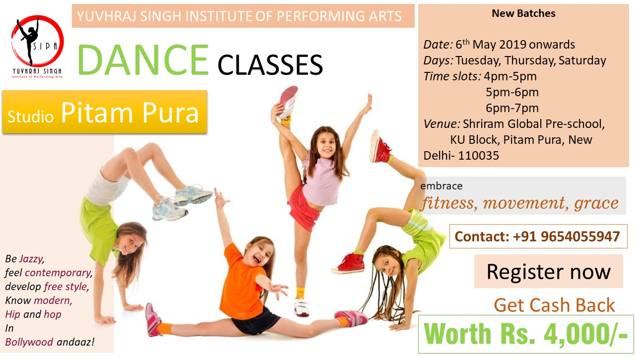 Dance Classes in Pitam Pura by YSIPA.