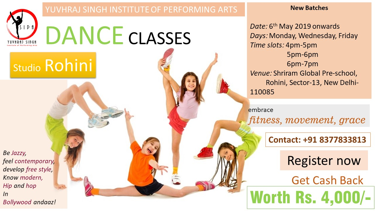 Dance Classes in Rohini BY YSIPA
