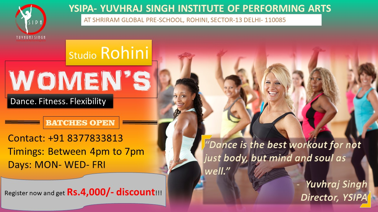 women's dance and fitness class by YSIPA